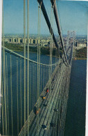 Cp Etats Unis USA New  York City (USA) Picture View George Washignton Bridge Over The Hudson River Showing New York - Ponts & Tunnels