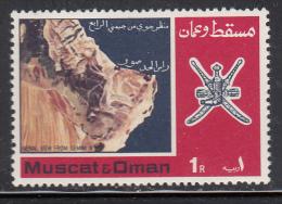 Oman MNH Scott #109 1r View Of Arabian Peninsula From Gemini IV Satellite - Oman