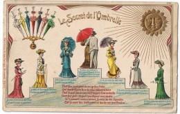 Le Secret De L'ombrelle Soleil Dames Parapluie Jolie Carte Relief - Birthday