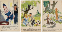3 Cartes Humoristiques -  Collection  Humoristique  57 - 207 - 217 - Humour