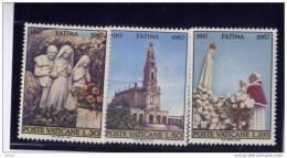 Vatican,1967, #455-57, 50 Th Anniv. Apparition Of Virgin Mary At Fatima  MNH - Vatican