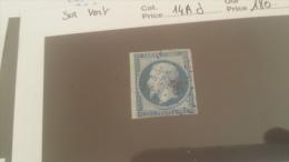 LOT 229130 TIMBRE DE FRANCE OBLITERE N�14Ad VALEUR 180 EUROS  SUR VERT