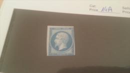 LOT 229145 TIMBRE DE FRANCE NEUF(*) N�14A VALEUR 150 EUROS