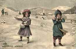 Bonne Année Illustrée 132 - Boules De Neige (WE 5259)