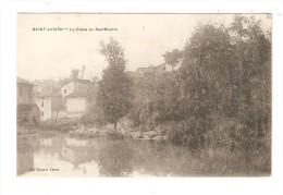 CPA : 87 -  Saint Junien : la Glane au bas Moulin : cours d'eau - moulin - maisons -