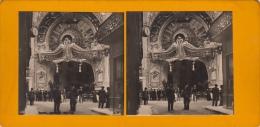 Photo Stereo Allier Vichy Auvergne Elysée Palace Theatre Music Hall Art Nouveau - Photos Stéréoscopiques