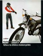 HARLEY-DAVIDSON PRODUZIONE PRODUCTION 1976 MOTO 2 TEMPI 2 STROKES Depliant Originale Genuine Brochure Prospekt - Motos