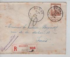 TP 113 S/L.recommandée C.Panne 17/7/1914 V. Gand PR1266 - 1912 Pellens