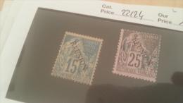 LOT 229180 TIMBRE DE COLONIE REUNION OBLITERE N�22/24 VALEUR 16 EUROS