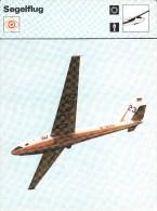 SEGELFLUG, Sammelkarte / Trading Card, MNH, 16x12cm, 1977-79 Ed. Rencontre, S.A., Lausanne - Cartes Postales