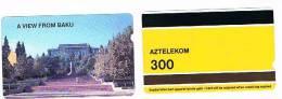 AZERBAIJAN  - ALCATEL AZTELEKOM -   VEDUTA DI BAKU  -  USATA° (USED) - RIF. 292 - Azerbaïjan