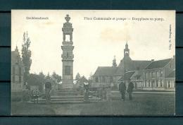 GROBBENDONCK: Place Communale Et Pompe, niet gelopen postkaart (Uitg Dingemans) (GA19224)