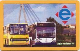 Latvia, Riga - Public Transport Ticket (e-talons) for traim, bus or trolleybus