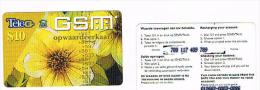 SURINAME (SURINAM) - TELE G  (GSM RECHARGE) - FLOWERS 10      - USED  -  RIF. 2047 - Suriname