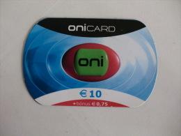 Phonecard/ Telécarte/ Cartão Telefónico Onicard 10 Euros + 0,75 Bónus - Portugal