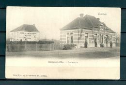 CONTICH: Station De L'Est, gelopen postkaart (Uitg Hermans) (GA19528)