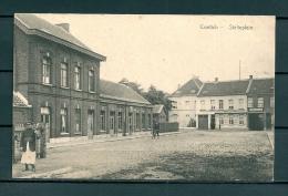 CONTICH: Statieplein, gelopen postkaart 1925 (Uitg Molemaekers) (GA19530)