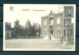 CONTICH: Gemeentehuis, gelopen postkaart 1921 (GA19539)