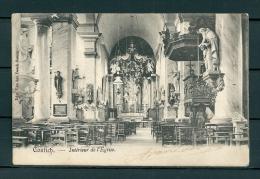 CONTICH: Interieur De L'Eglise, gelopen postkaart 1904 (Uitg Van Den Rosch) (GA19545)