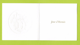 Cartes Parfumées Carte JOUR D' HERMES De HERMES  RECTO VERSO - Modernes (à Partir De 1961)