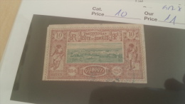 LOT 229208 TIMBRE DE COLONIE SOMALIS OBLITERE N�10 VALEUR 11 EUROS