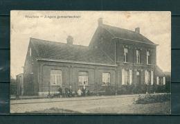 WAARLOOS: Jongens Gemeenteschool, gelopen postkaart (GA20080)
