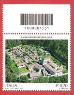 ITALIA REPUBBLICA SINGOLO BARRE SUP - 2013 - Sacro Eremo Di Camaldoli - € 0,70 - S. 3408 - Bar Codes