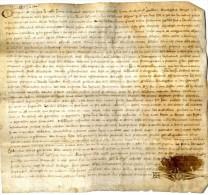 MANUSCRIT EDOUARD PRINCE DE GALLES GOUVERNEUR DE LA GUYENNE  MORT EN 1376  ( fils d edouard III )  -  ARNAUD DELESTON