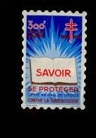 Vignette 300F Pour La Santé 1959 1960 Comité National De Défense Contre La Tuberculose - Vecchi Documenti