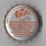 """COLOMBIA-"""" FANTA-MANZANA  """" - BEBIDA  - BOTTLE CROWN CAP / KRONKORKEN /TAPPI-USED"""