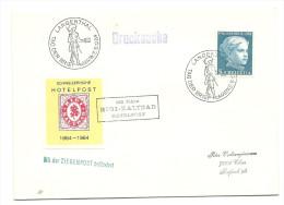 1964 Tag Der Briefmarke Mit Hotelpost Vignette Mit Der Ziegenpost Befördert!! - Lettres & Documents