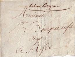 HAUTE GARONNE - TOULOUSE - LETTRE DE VOITURE-PAR BARQUE SUR LE CANAL DU MIDI-LETTRE DITES DES CAPITAINES - DU 17-11-1810 - Marcophilie (Lettres)