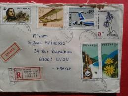 Enveloppe Reçue De Pologne En 1977 - Varietà E Curiosità