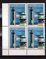2014 Latvia - Lighthouses Of Latvia  - Issue 2014 - Ainazu Lighhouse -Block Of 4 Of  1 V Paper - MNH** - Lettland