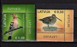 2014 Latvia - Birds Of Latvia - Issue Of 2014 -set Of 2 V  - Paper - MNH** - Albatrosse & Sturmvögel