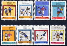 POLAND 1966 Football World Cup Set MNH / **.  Michel 1665-72 - 1944-.... Republic