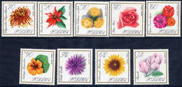 POLAND 1966 Garden Flowers Set MNH / **.  Michel 1696-704 - 1944-.... Republic