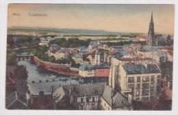 (RECTO / VERSO) METZ EN 1918 - TOTALANSICHT - PETITS TROUS DE PUNAISE EN HAUT - Metz