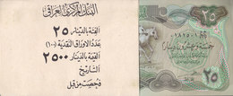 IRAQ 25 DINARS 1982 P-72 UNC THE 3 HORSES lot x100 NOTE one bundle  */*