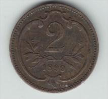 @Y@    Austria 2 Heller 1899   (2719) - Oesterreich