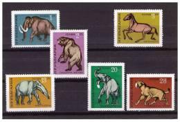 BULGARIA 1971 PREHISTORIC ANIMALS  6  VALUES MNH - Preistorici