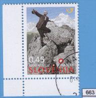 SLOVENIA 2009; Mi: 703; USED CTO; Alojz Knafelc, Climber, Mountain Paths Marking System - Arrampicata