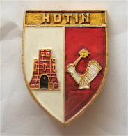 Ukraine Hotin city /Chernivtsi oblast/ - Coat of Arms Pin Badge Old Castle