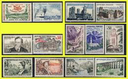 N° 1235 A 1247 SÉRIE TOURISTIQUE + JOURNÉE DU TIMBRE ET DIVERS 1960 - N** SANS TRACE DE CHARNIÈRE - - France