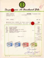VERVIERS RUE DE DINANT  IMPRIMERIE BROCHARD - Printing & Stationeries