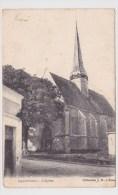 (RECTO / VERSO) FONTENOY EN 1904 - L' EGLISE - BEAU CACHET DE CHANCAY EN INDRE ET LOIRE - France