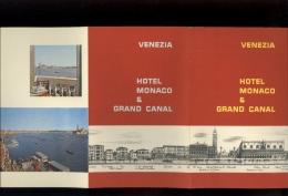 Prospectus Touristique Advertising Documentation Italie Italia VENEZIA Hotel Monaco & Grand Canal  1956 - Italia