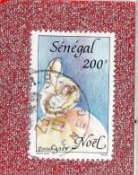 SENEGAL  --  NOEL   --  CACHET  DAKAR  R.P.  --  **  200  F. **  --  POSTE  1989  --  BEG - Senegal (1960-...)