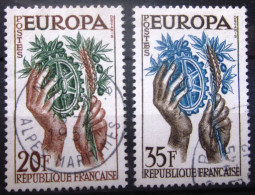 FRANCE                N° 1122/1123              OBLITERE - Used Stamps