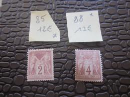 France Timbre Neuf *type Sage N° 25 Et 88  12 Et 13 € - France